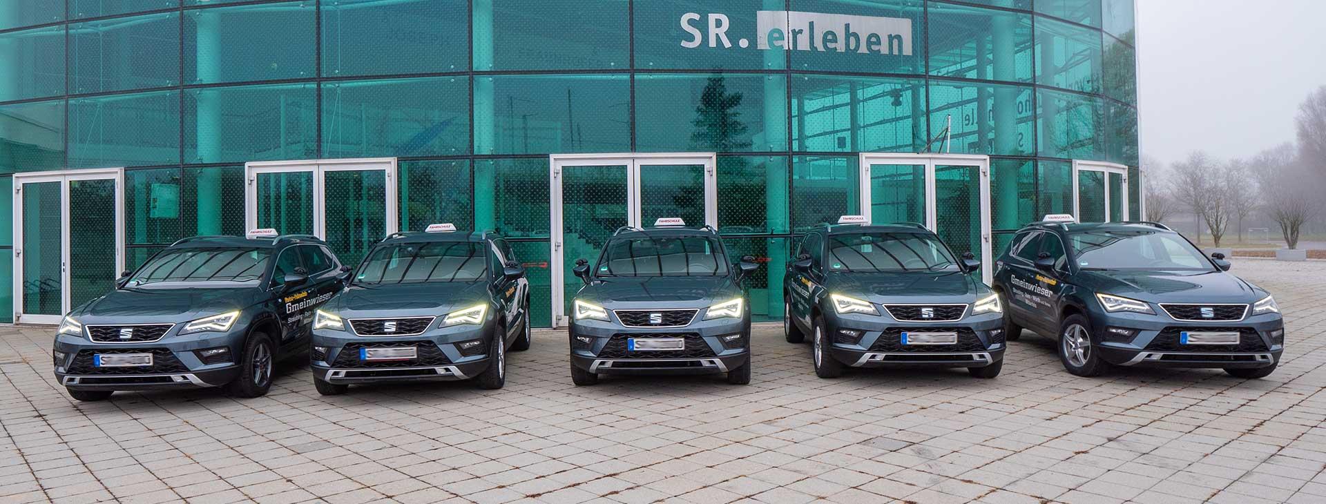 Fahrschulautos der Fahrschule Gmeinwieser in Straubing